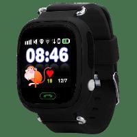 Смарт-часы детские JETIX Q90 с виброзвонком и WiFi (Black)