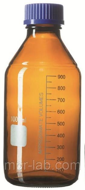 Банка для реактивов с винтовой крышкой 1000 мл (темное стекло)