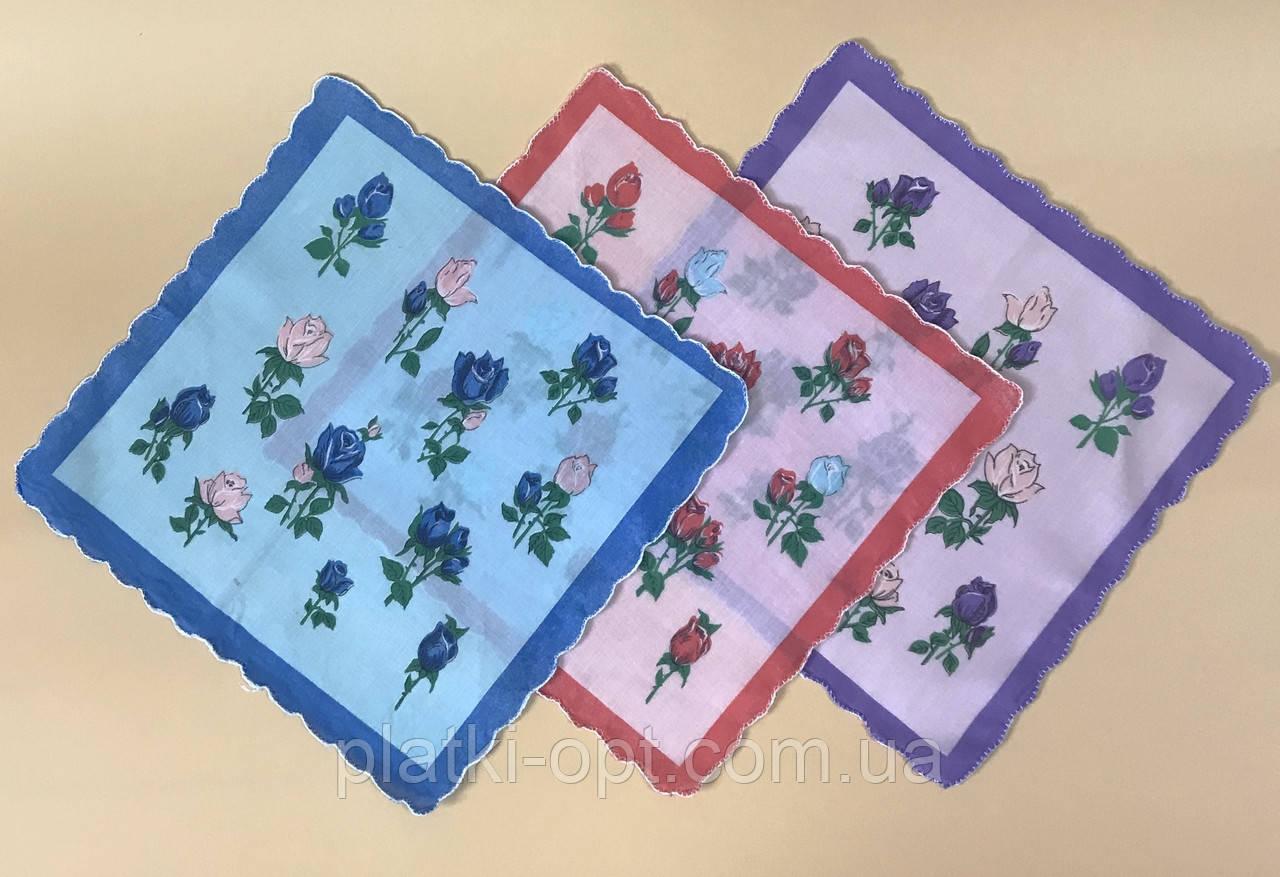 Женский носовой платок (ситец)