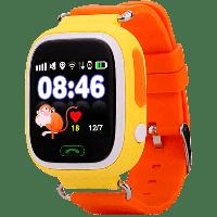 Смарт-часы детские JETIX Q90 с виброзвонком и WiFi  (Yellow)