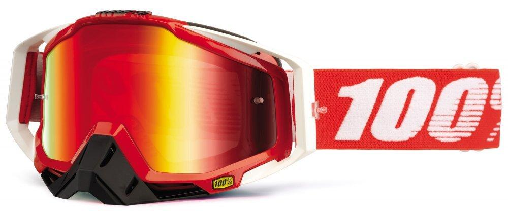 Мото очки 100% RACECRAFT Goggle Fire Red - Mirror Red Lens, Mirror Lens