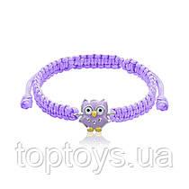 Браслет плетений UMa UMi Сова Фіолетовий (419560500613)