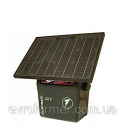 Електропастух Lacme Secur 500 з регулюванням потужності 0.5-5 Дж (з сонячною панеллю 25W)