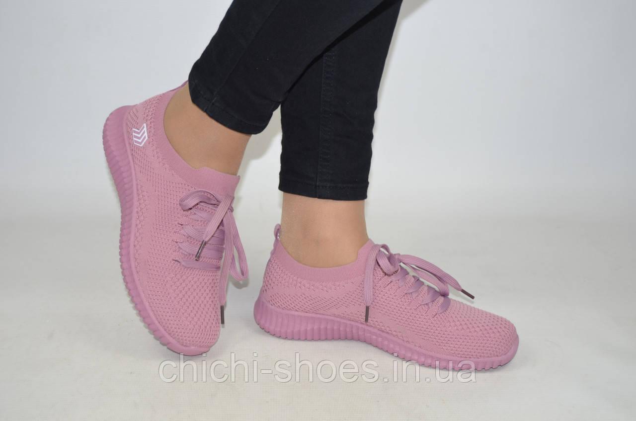 Кроссовки женские Restime 20201 розовые текстиль