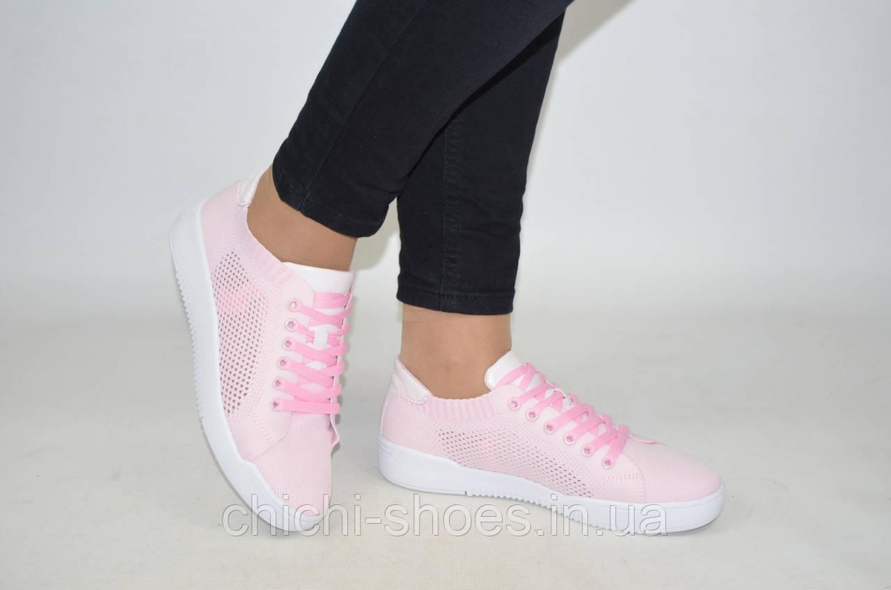Кроссовки женские Restime 20835-1 розовые текстиль