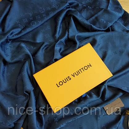 Платок Louis Vuitton шелк темно-синий, фото 2