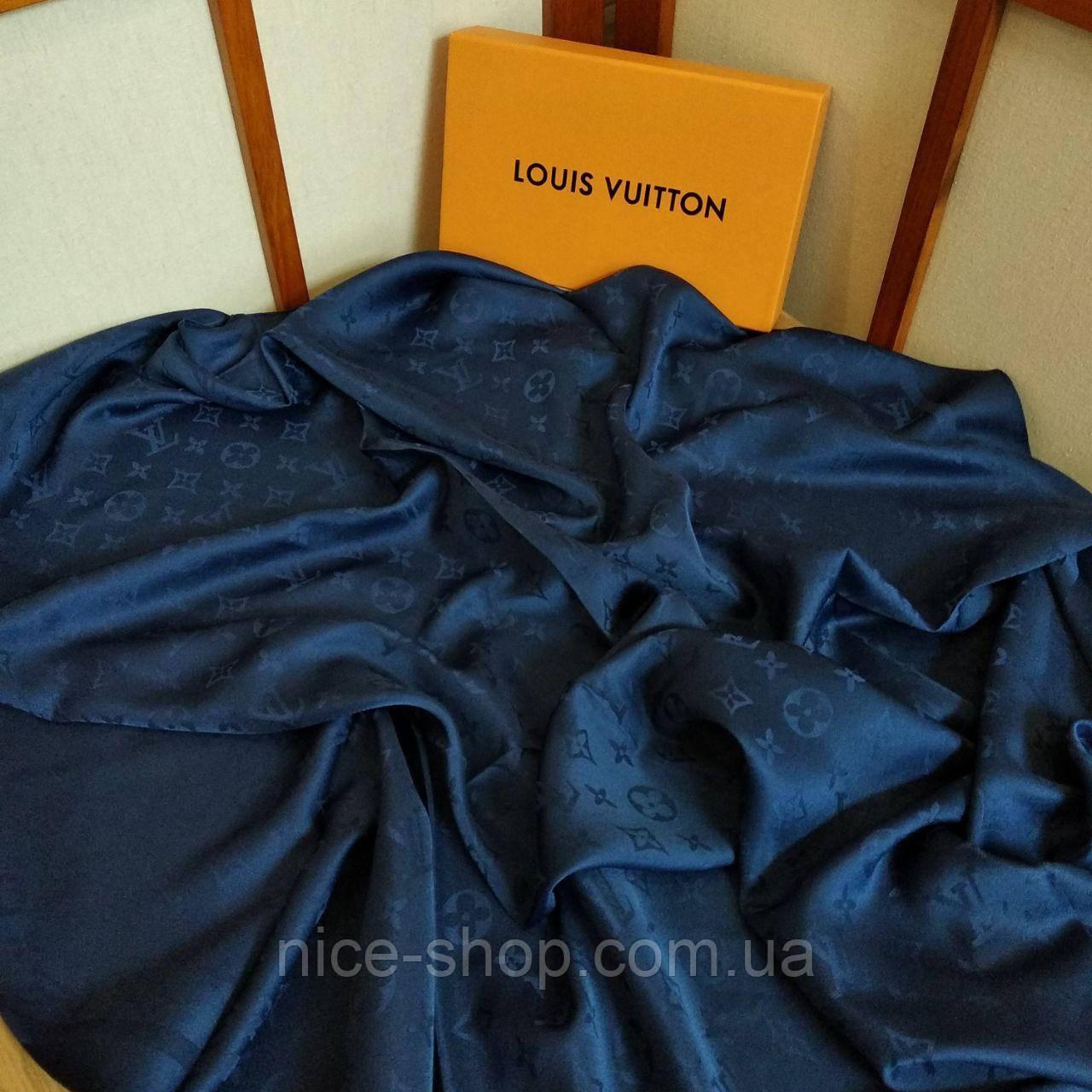 Платок Louis Vuitton шелк темно-синий
