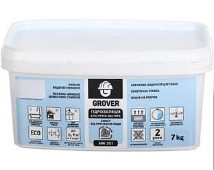 Мастика акриловая GROVER MW 301 гидроизоляционная 7кг