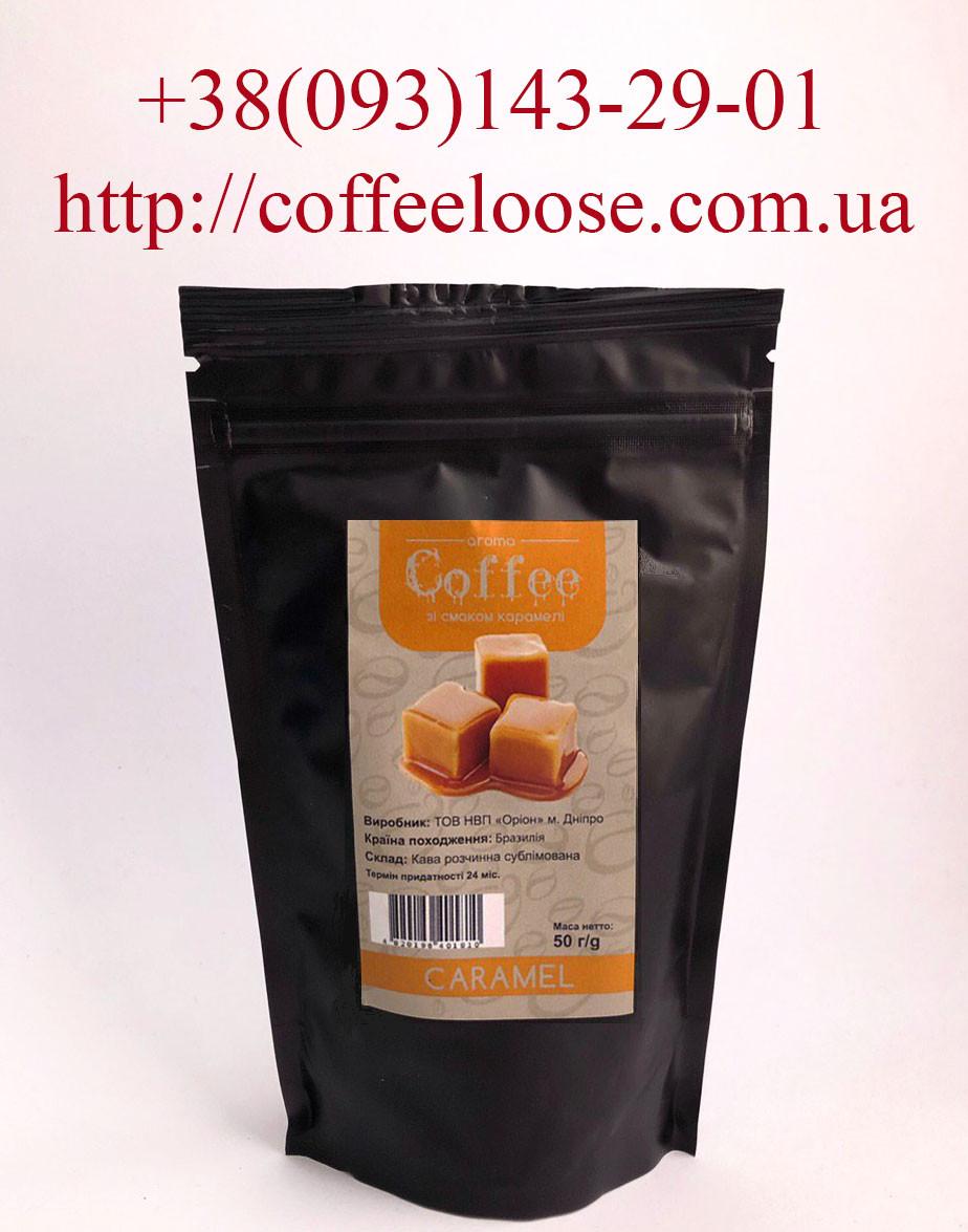 Кофе растворимый ароматизированный со вкусом Карамель 50 грамм (Касик Бразилия)