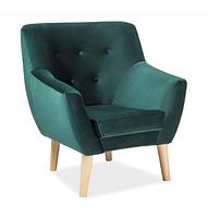 Кресло Nordic 1 Velvet ( Нордик 1 Вельвет зеленый)