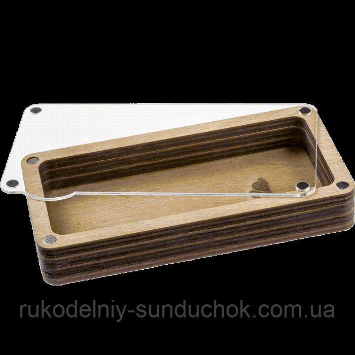 Дерев'яна мусорничка-скринька для обрізків ниток FLZB(N)-009