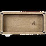 Дерев'яна мусорничка-скринька для обрізків ниток FLZB(N)-009, фото 3