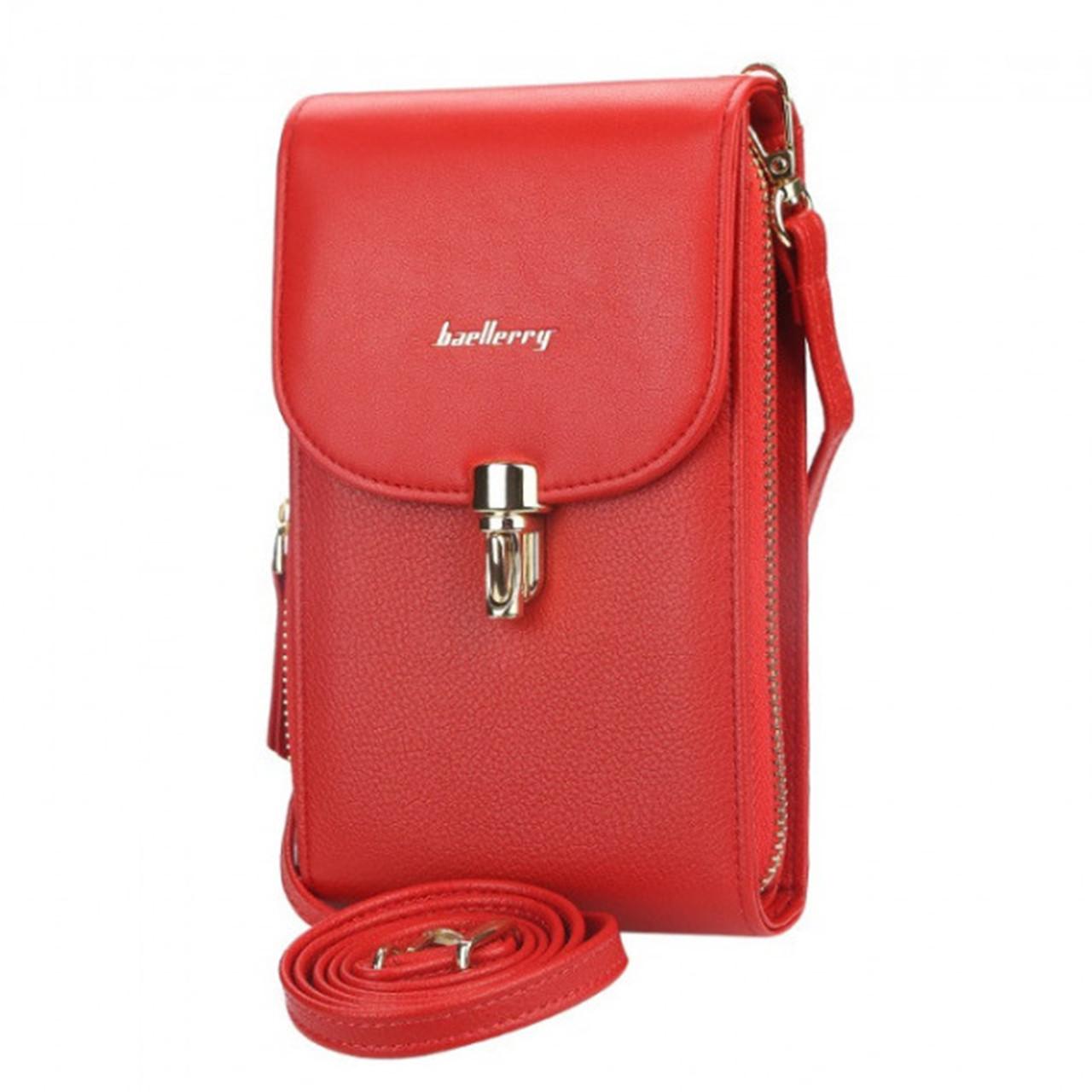 Женский кошелек-сумка Baellerry N8593 Red вертикальная на плечо тренд сезона для девушек женщин