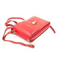 Женский кошелек-сумка Baellerry N8593 Red вертикальная на плечо тренд сезона для девушек женщин, фото 5