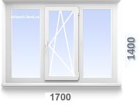 Окно металлопластиковое WDS Classic 1700x1400 мм с однокамерным стеклопакетом