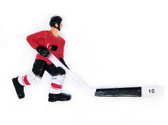 Хоккеист для настольного хоккея №16 красный