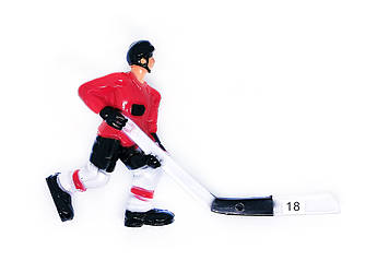 Хоккеист для настольного хоккея №18 красный