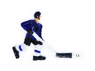 Хоккеист для настольного хоккея №13 синий