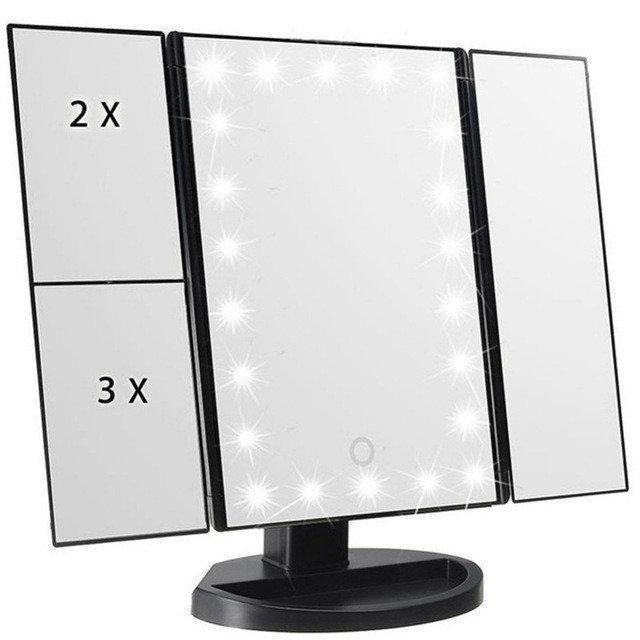 Зеркало Superstar Magnifying Mirror для макияжа с LED-подсветкой Черный