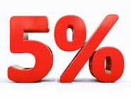 Скидка 5% на весь товар до 15 марта!