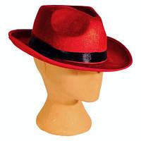 Червона гангстерська капелюх карнавальний