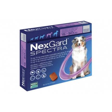 Таблетки Boehringer Ingelheim NexGard Spectra против блох,клещей и глистов для собак L, 15-30 кг, 1 таблетка, фото 2