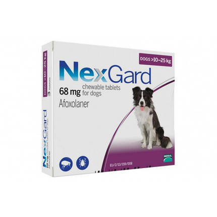 Таблетки Boehringer Ingelheim NexGard от блох и клещей для собак L, 10-25 кг, 1 таблетка, фото 2