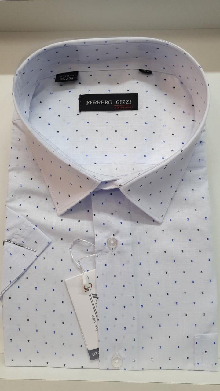 Батальная льняная рубашка Ferrero Gizzi - 2764 вк