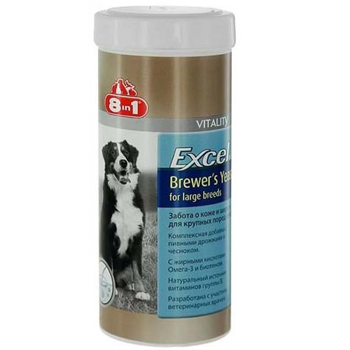 Витамины 8 in 1 Excel Brewers Yeast для крупных собак, 80 таблеток