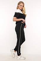 Летний женский костюм футболка и штаны большого размера 50-58, фото 3