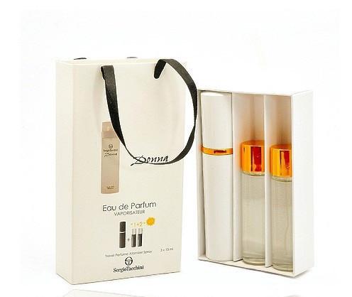 Мини-парфюм с феромонами женский Sergio Tacchini Donna 3х15 мл