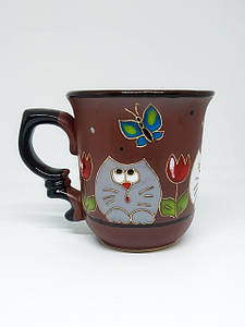 """Чашка 250 мл """"Любопытные коты с тюльпаном"""""""