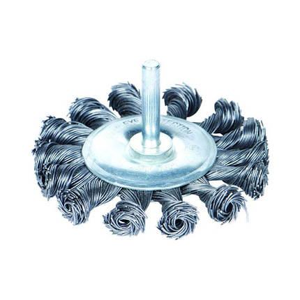 Щетка проволочная дискообразная Ø75мм хвостовик Ø6мм (стальная витая) Sigma (9023071), фото 2