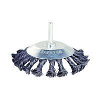 Щетка проволочная конусообразная Ø100мм хвостовик Ø6мм (стальная витая) SIGMA (9025101)