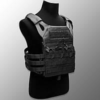 """🔥 Плитоноска """"Plate Carrier - ALPC"""" (черный) чехол для бронежилета, разгрузка, разгрузочный жилетка, ВСУ"""