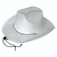 "Белая шляпа ""Ковбойская"" карнавальная"