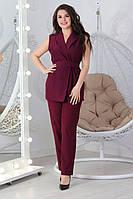 М610 Женский костюм летний марсала / бордовый/ бордо / бордового цвета, фото 1