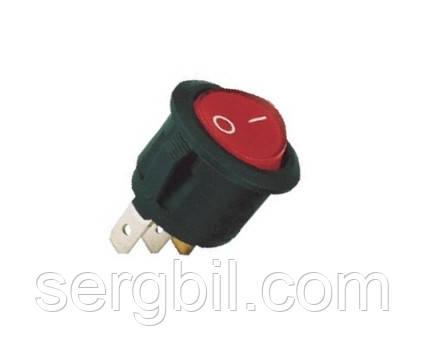 KCD1-105/N Выключатель клавишный, красный, с подсветкой, 3выв. 3A, 250V