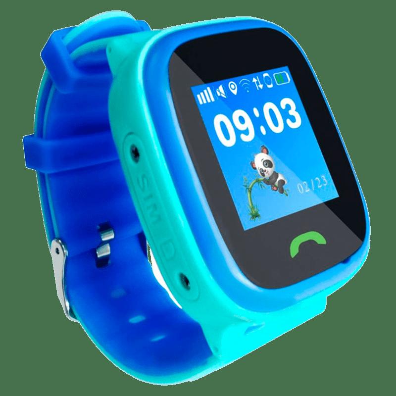 Cмарт-часы детские JETIX DF25 LightStrap с GPS маячком и валогазащитой IP67  (Blue)