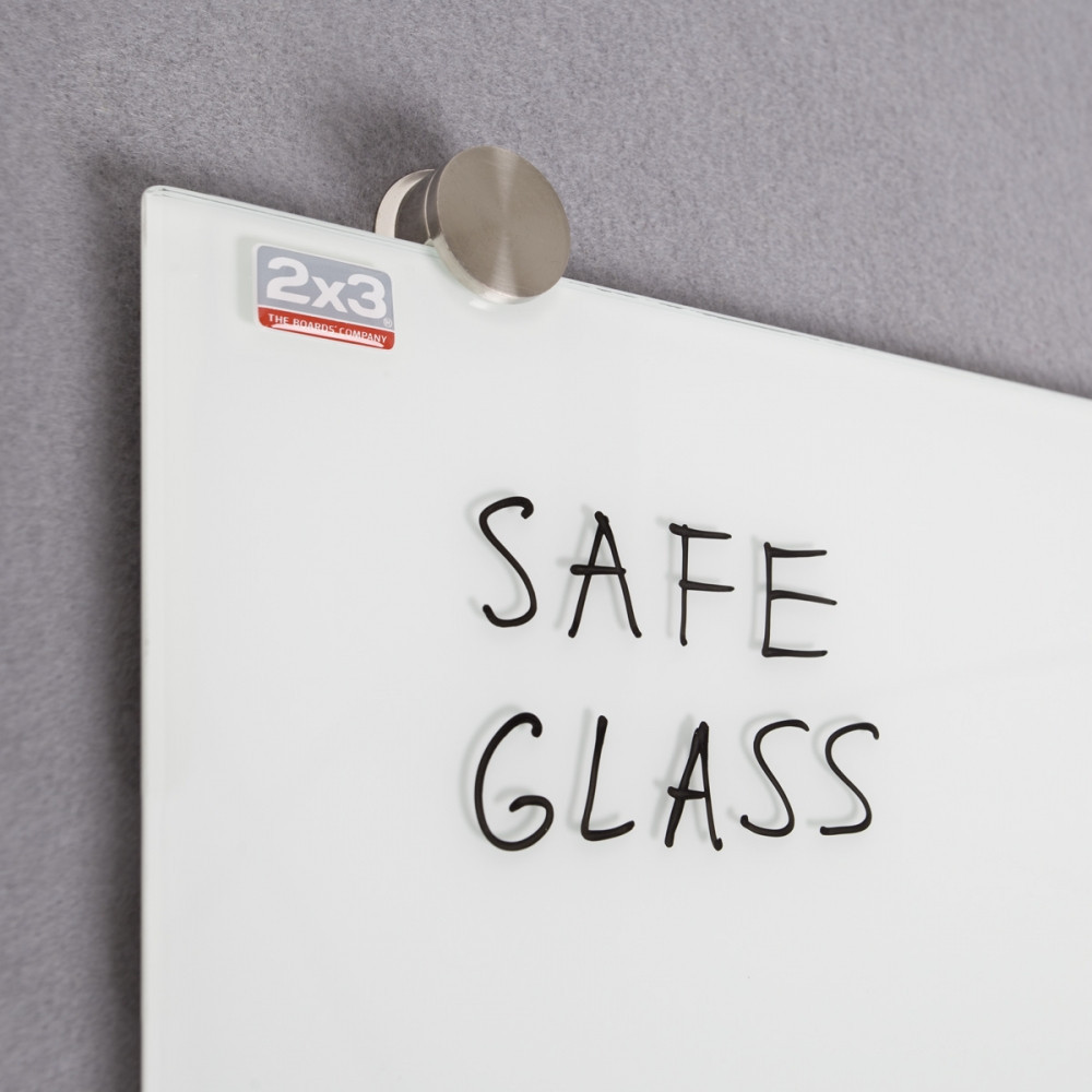 Доска стеклянная магнитно-маркерная 2x3 90 х 120 см белая