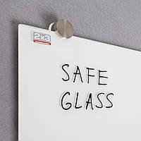 Доска стеклянная магнитно-маркерная 2x3 90 х 120 см белая, фото 1