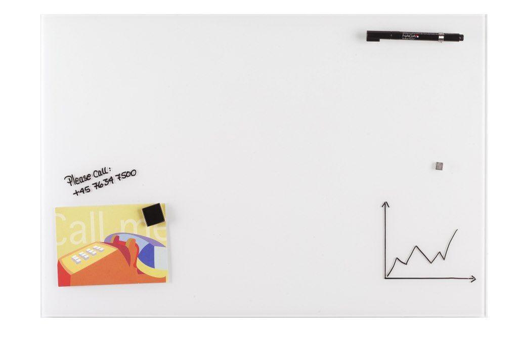 Доска стеклянная магнитно-маркерная 2x3 120 х 240 см белая