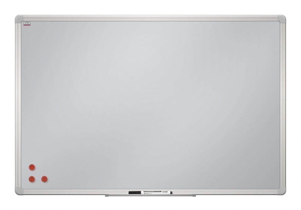 Доска магнитная маркерная 2x3 с серебристой поверхностью алюминиевая рамка ALU23 90 х 120 см