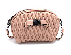 Сумка женская клатч на цепочке с бантиком Розовый Уценка