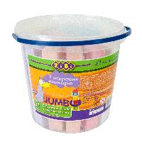 Мел Zibi JUMBO цветной квадратный 21 штука в пластиковом ведре