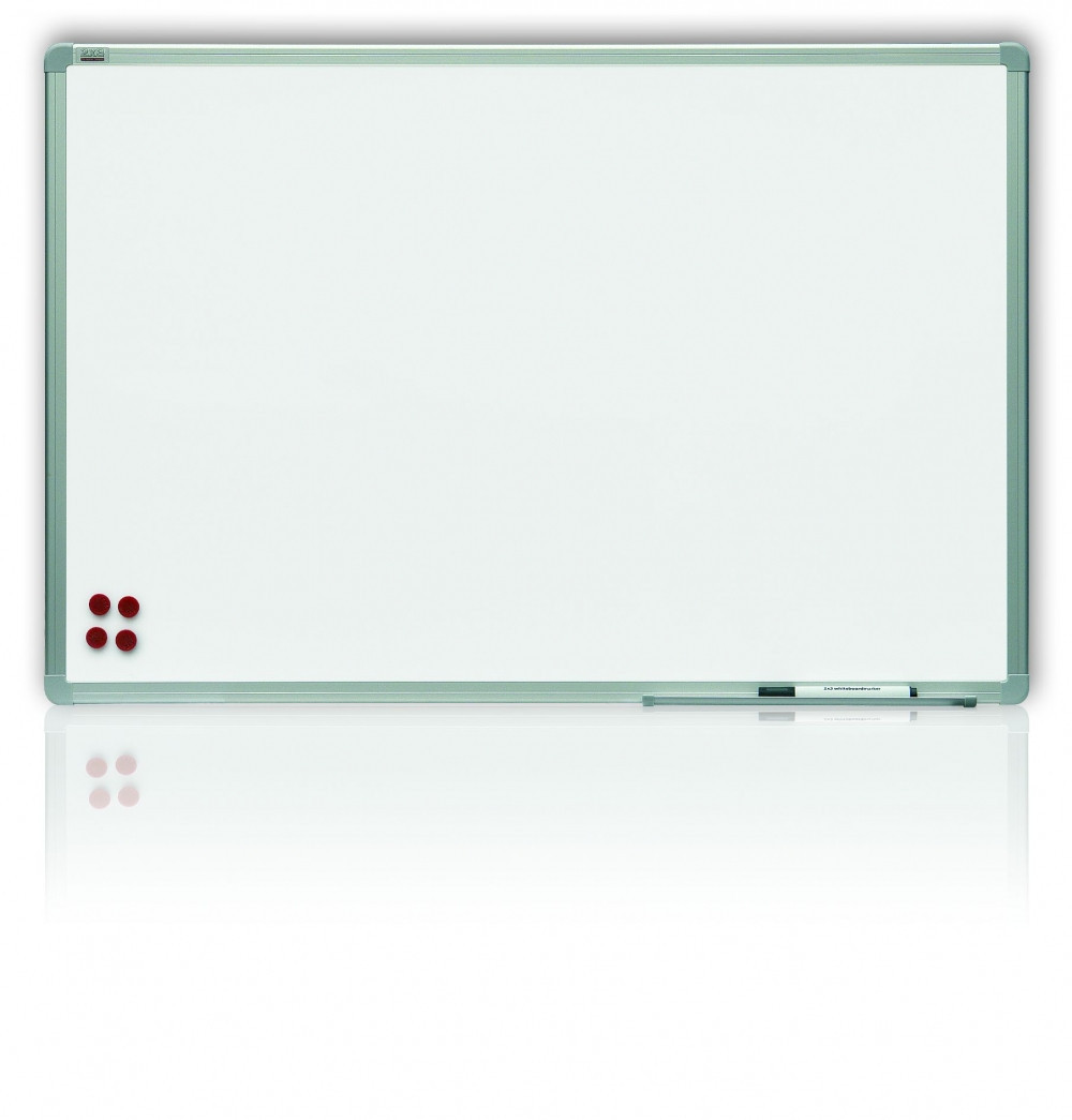 Доска магнитная маркерная 2x3 алюминиевая рамка 90 х 120 см лакированная поверхность