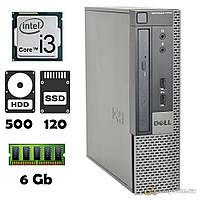 Компьютер Dell 7010 (i3-2100/6Gb/500Gb/ssd 120Gb) desktop БУ, фото 1