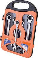 Набор ключей комбинированных с трещоткой 5 шт. MIOL 52-250