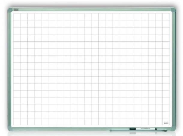 Доска магнитная маркерная в клетку 2x3 алюминиевая рамка 120 х 180 см лакированная поверхность