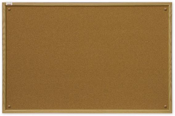 Доска пробковая 2x3 в деревянной рамке MDF 90 x 60 см